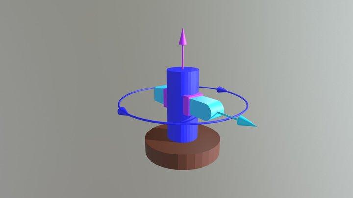 Kinematický reťazec RTT 3D Model