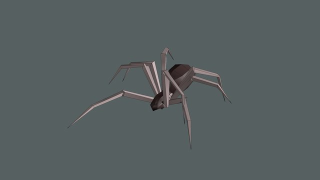 Low Poly Spider - Walk Cycle 3D Model