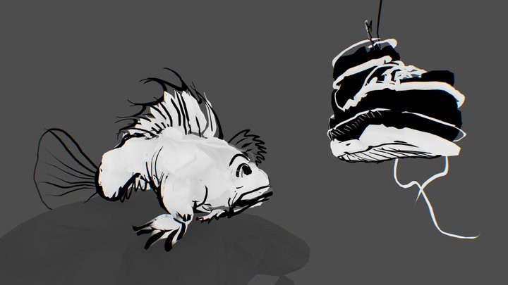 03 - bait 3D Model