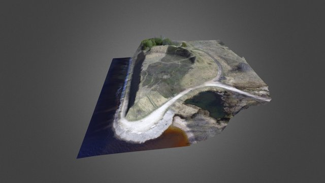 Daugmale hillfort 3D Model