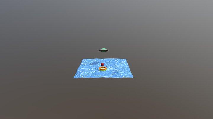 Nunez Leopoldo Space Alien & Boat 3D Model