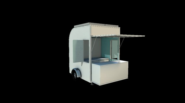 Caheeba Kiosk - Light Canteen 3D Model