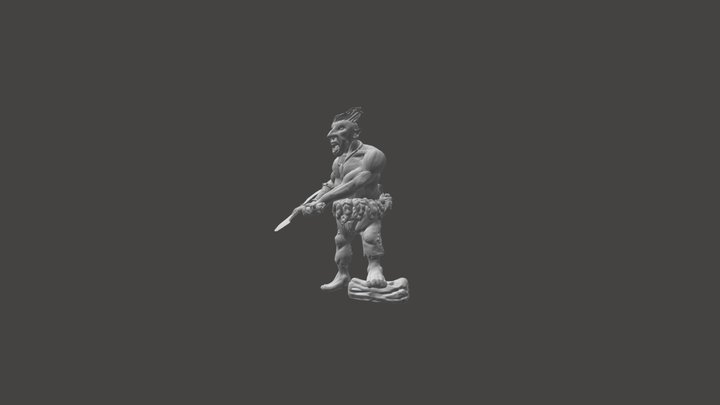 Forest Gnome Barbarian 3D Model