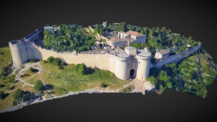 Fort médiéval et abbaye de Saint-André 3D Model