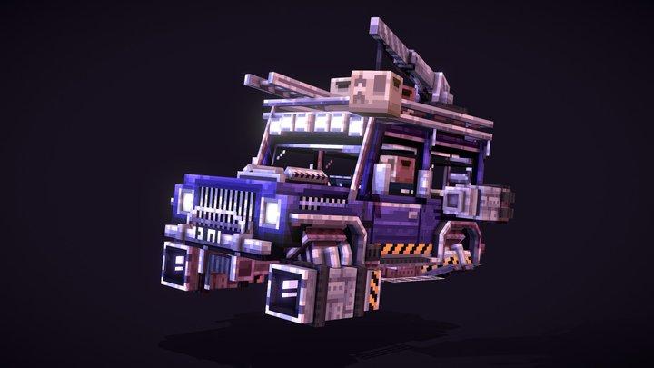 Cyberpunk Jeep 3D Model