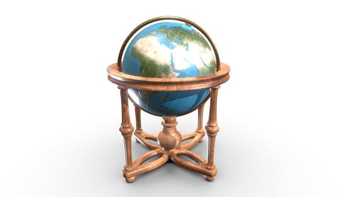 Cradle Globe 3D Model