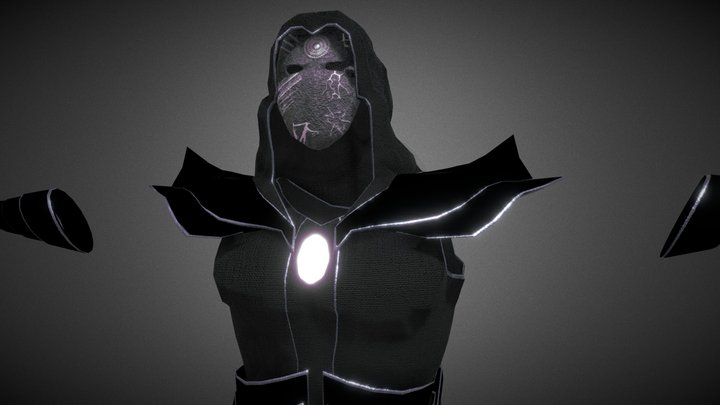 Shadow Magician's Outfit 3D Model