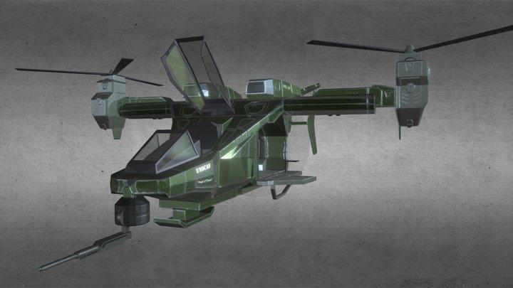 Halo Downfall - Falcon 3D Model