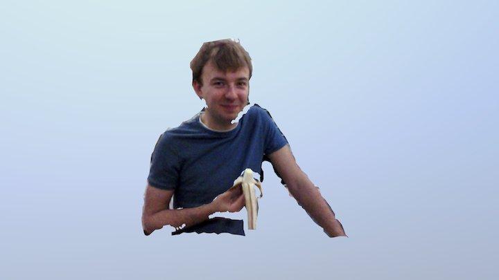 4D video (R200 #03, Kit eating a banana) 3D Model