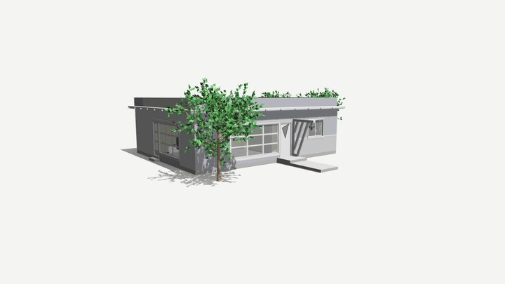 1167 sq ft 108 sq m SIP Panel House Models 3D Model