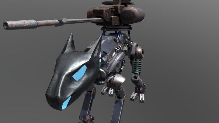 Robot Cat 3D Model