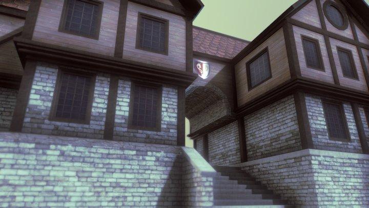 Medieval House 01 3D Model