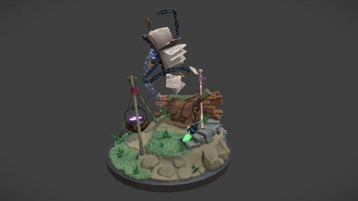 Adventurer's Camp - Digital Sculpting Exam 3D Model