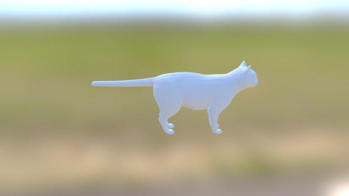 Low-poly cat 3D Model