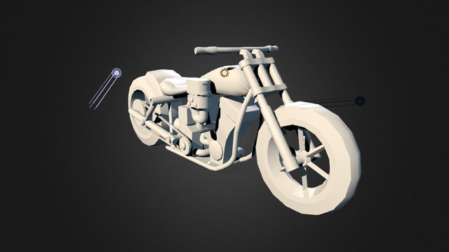 Harley Davidson Custom (WIP) 3D Model