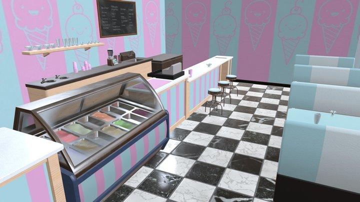 Ice Cream Parlor 3D Model