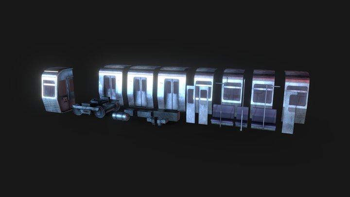 Modular Train - passenger car kit 3D Model