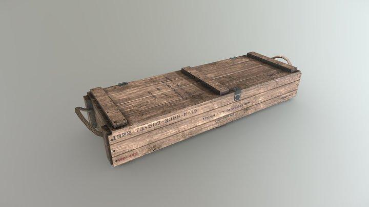 Military Wood box 3D Model