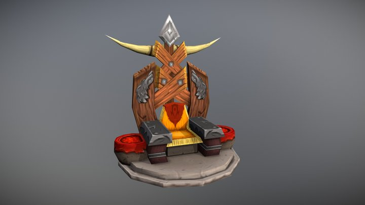 Thralls Throne 3D Model