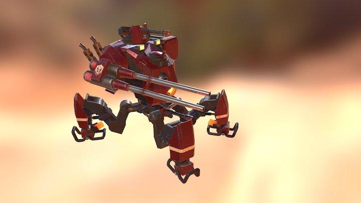 Mecha boss - booting 3D Model