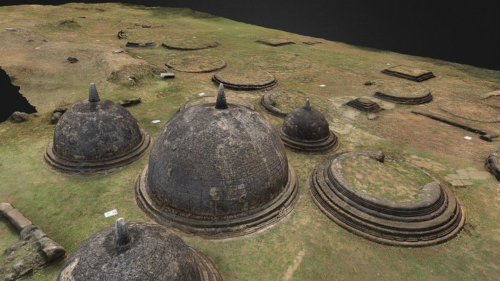 Kantharodai Stupas: North and Eastern Sections 3D Model