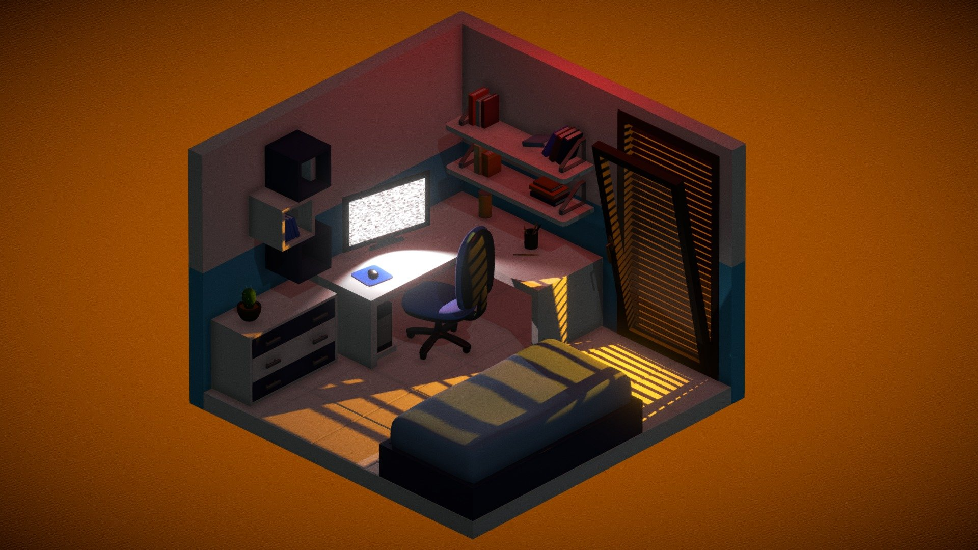 Isometric Bedroom Download Free 3d Model By Gianmarco Gianmart E5216b4
