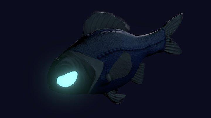 Flashlight Fish Model (wip) 3D Model