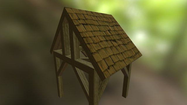 The Forest Exchange - Awning 3D Model