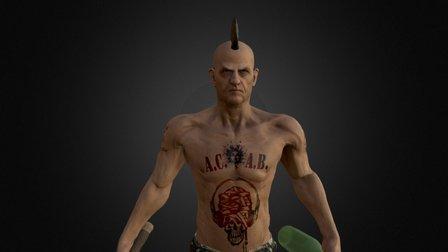 Old Punk 3D Model