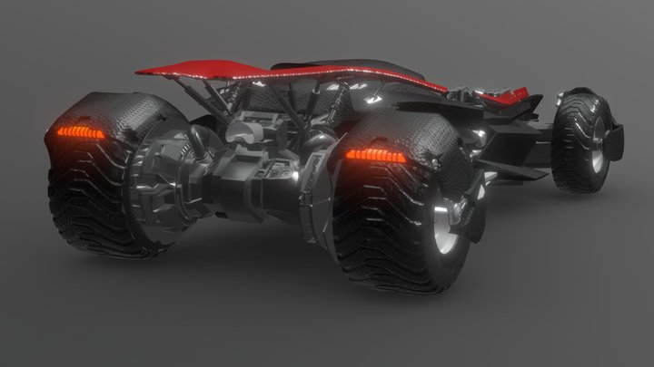 Bat Sports car 3D Model
