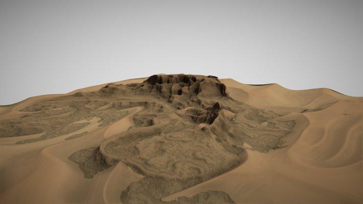 Mountainous Desert 3D Model