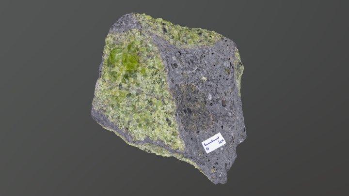 Arizona xenolith in basalt. 3D Model