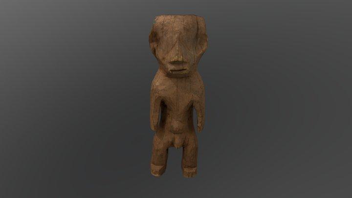 Wooden Male Figure 3D Model