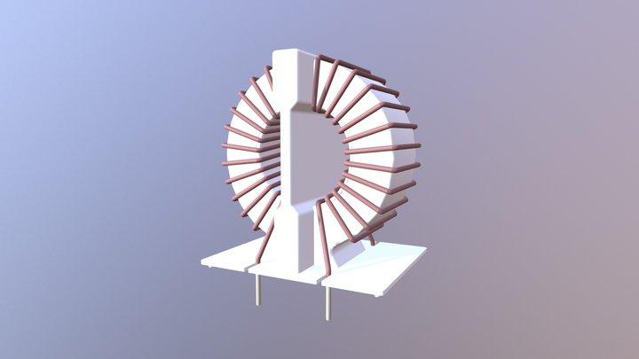 KEMET SC-02-30J AC LINE FILTER, SC COILS 3D Model