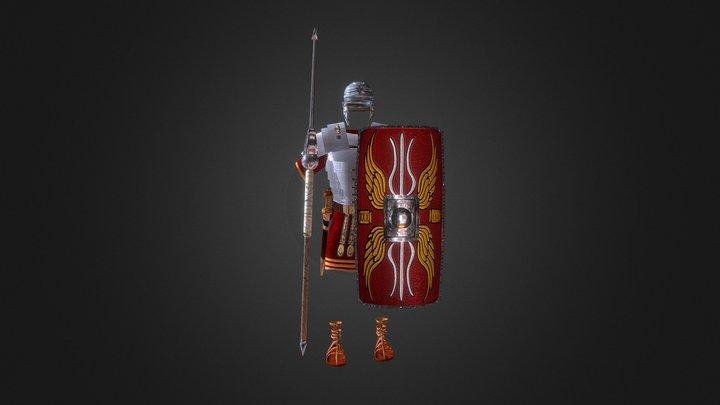 Roman Armor  Attack 3D Model