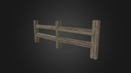 Fence (Wood) 3D Model