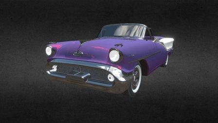 1957 Oldsmobile Starfire 98 Convertible 3D Model