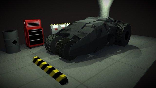 Batmobile Garage - test WIP 3D Model