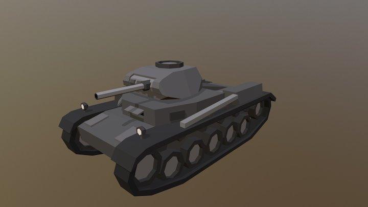 Low Poly Panzer II 3D Model