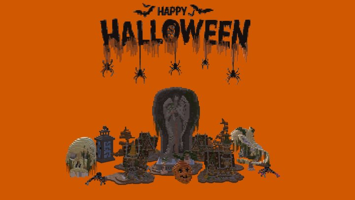 Halloween pack 3D Model