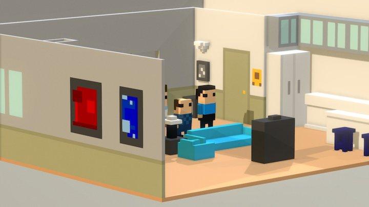 Seinfeld - Jerry's Apartment 3D Model