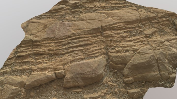 Martian surface photogrammetry 3D Model