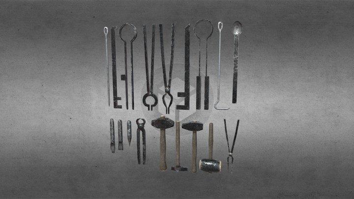 Medieval Tools Set 3D Model