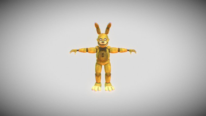 FNAF ITP: Springbonnie 3D Model