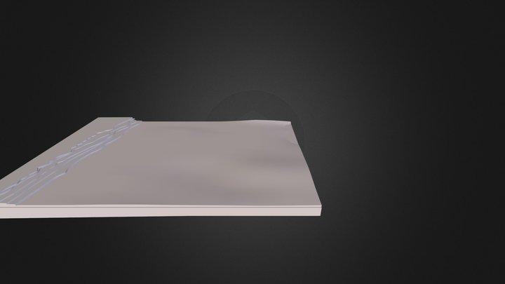 Cuaderno con hojas arrancadas 3D Model
