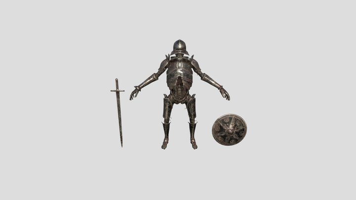 Undead Armored Warrior 3D Model