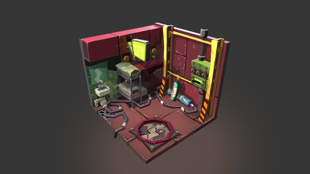 House Steampunk 3D Model