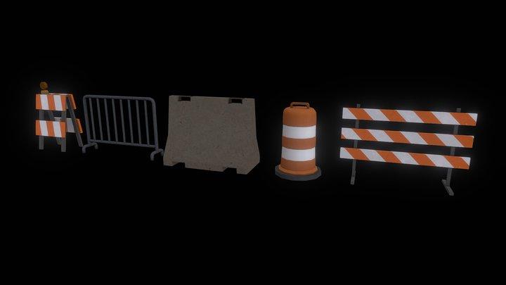 Traffic Props 3D Model