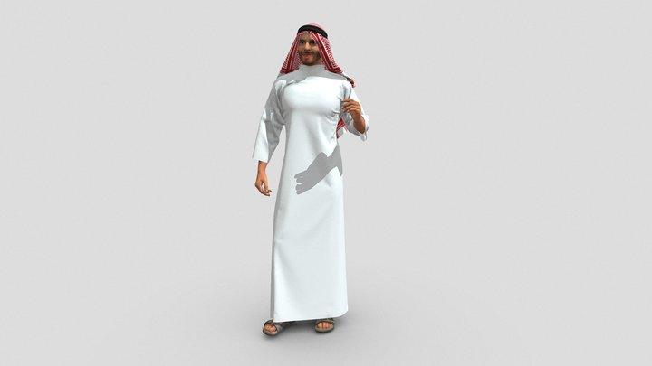 Saudi Arabian Man - Archviz - 3d People 3D Model