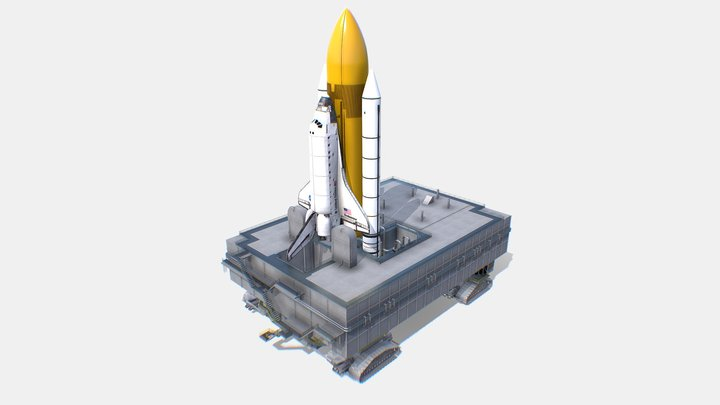 Nasa Launch Pad 3D Model